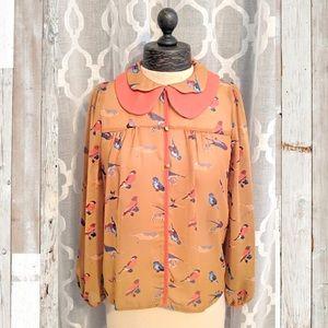 🆕LOVEMARKS   Vintage Style Bird Blouse
